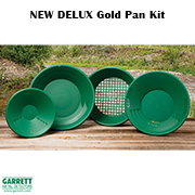НОВ Комплект за самородно злато Garrett Delux Gold Pan Kit